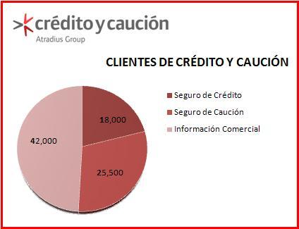 f5bae49cc00ad Cuántos clientes tiene Crédito y Caución  - detalle